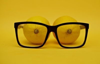 Lemons watching through spectacles.