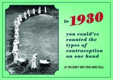 contraception types postcard