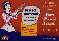 protect your wood postcard